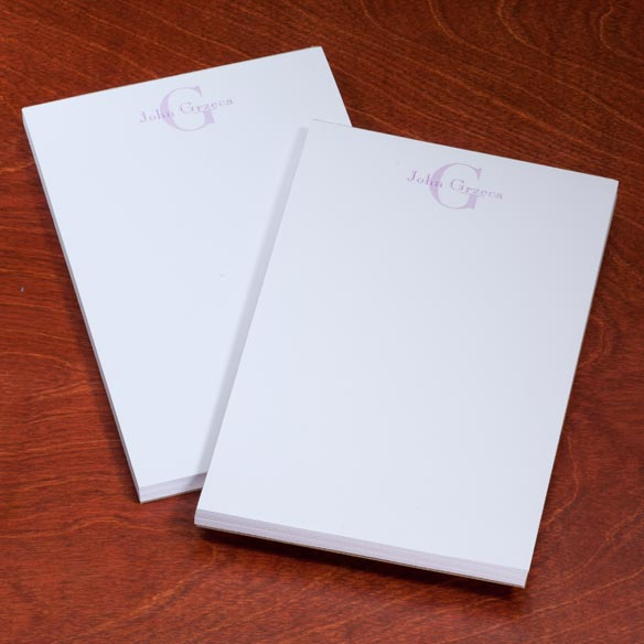Personalized Block Notepads, Set of 2 - View 4