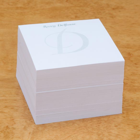 Personalized Note Sheets with Cube - View 3