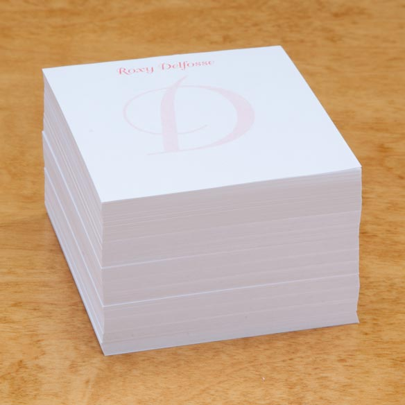 Personalized Note Sheets with Cube - View 5