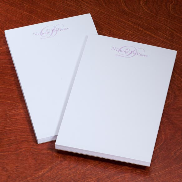 Personalized Script Notepads - Set Of 2 - View 4