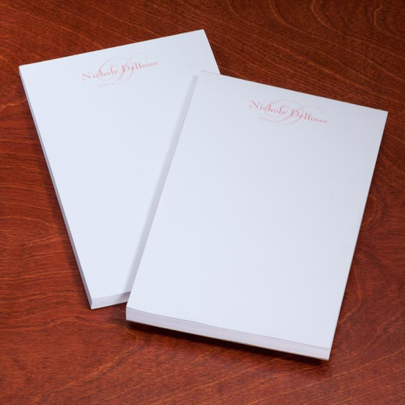 Personalized Script Notepads - Set Of 2 - View 5