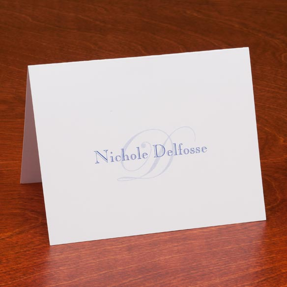 Personalized Script Note Cards - Set Of 25 - View 4