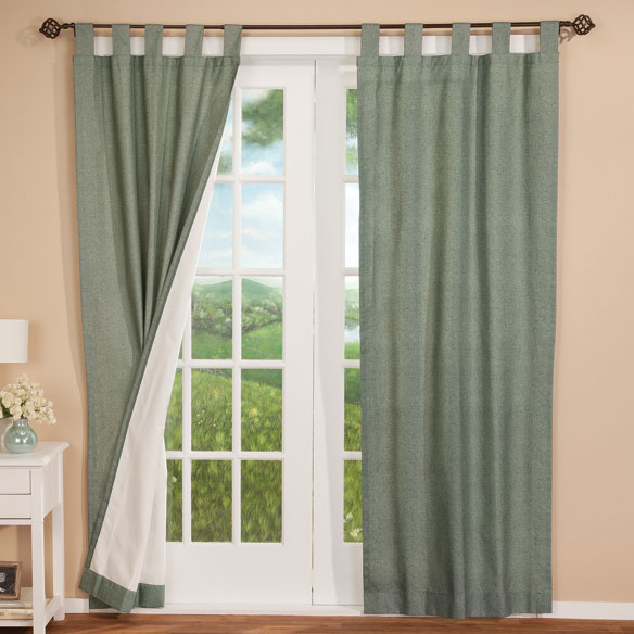 Energy Saving Tab Top Curtain Panels - Set of 2 - View 4