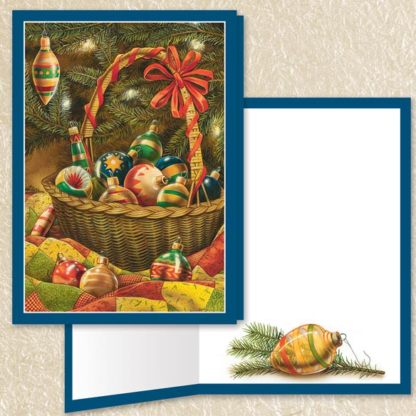Christmas Nostalgia Christmas Cards Set of 80 - View 3