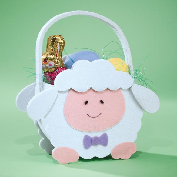 Personalized Lamb Easter Basket - View 2