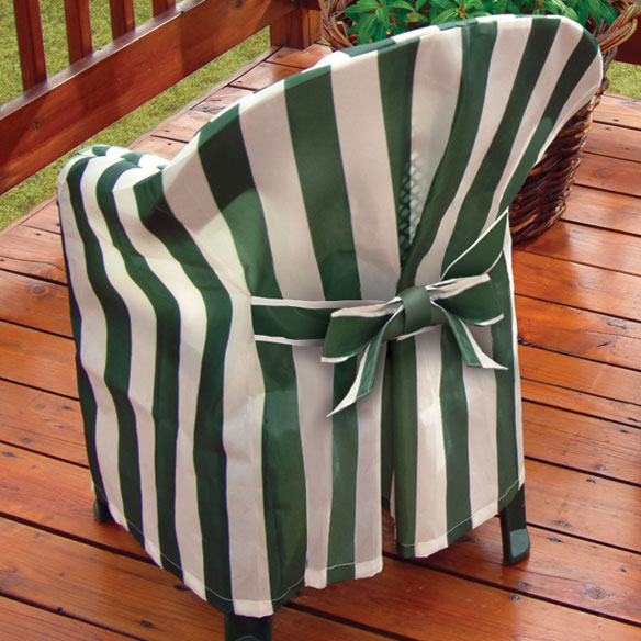 Striped Patio Chair Cover With Cushion Patio Chairs