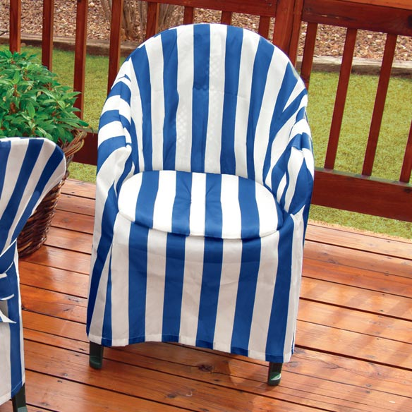Striped Patio Chair Cover with Cushion - View 3