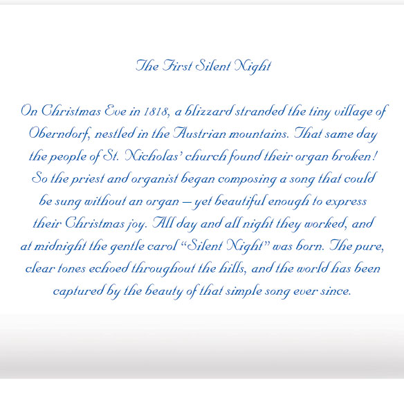 Silent Night Christmas Card Set of 20 - View 3