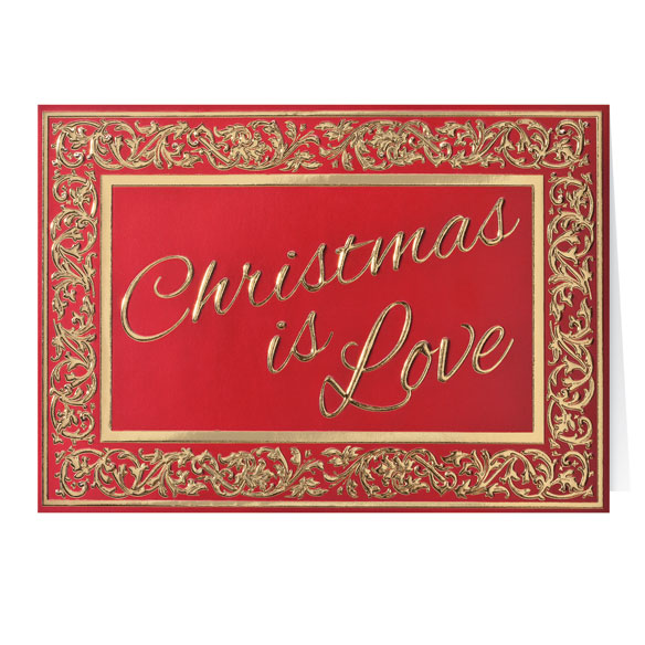 Christmas is Love Christmas Card Set of 20 - View 2