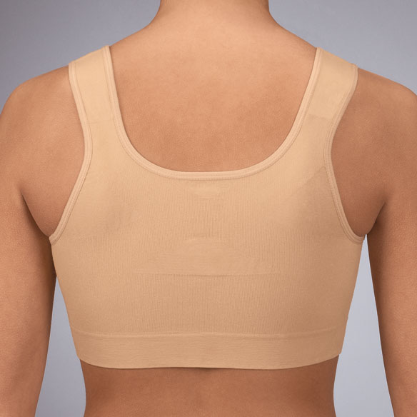 Front Zip Back Support Bra - View 2