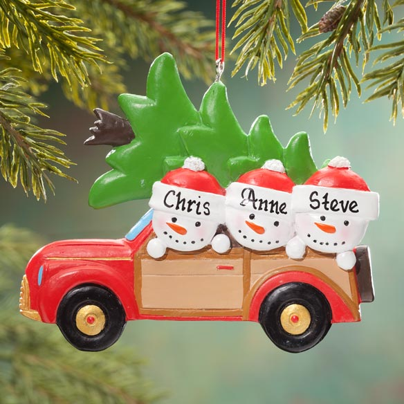 Personalized Woody Wagon Family Ornament - View 2
