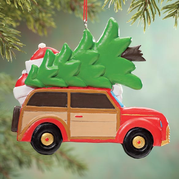 Personalized Woody Wagon Family Ornament - View 5