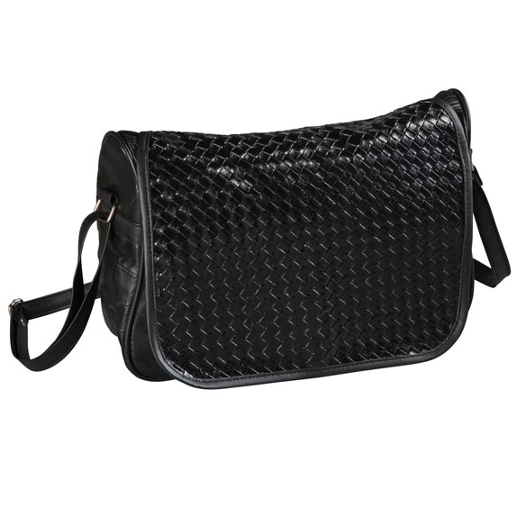 Basketweave Bag with Flap - View 4