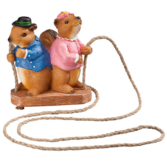 Swinging Squirrels Garden Figurine - View 2