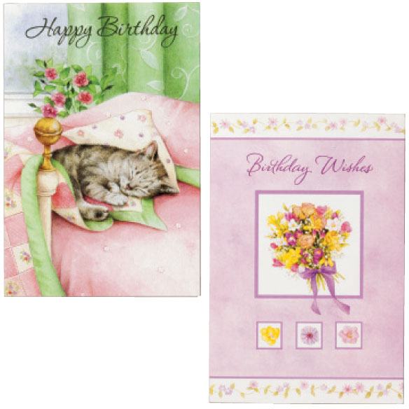 Birthday Card Set of 24 - View 3