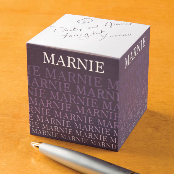 Personalized Fading Name Self-Stick Note Cube - View 4
