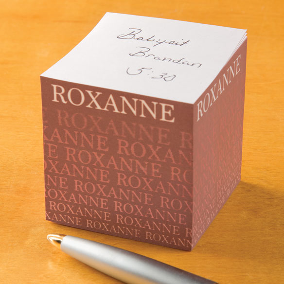 Personalized Fading Name Self-Stick Note Cube - View 5