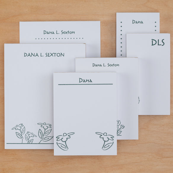 Personalized Flower Notepad Refill, Set of 6 - View 3