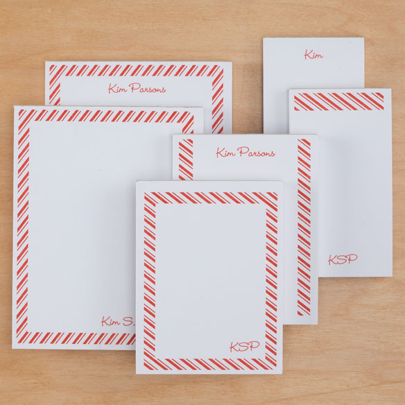Personalized Diagonal Stripes Notepads Refill Set of 6 - View 2