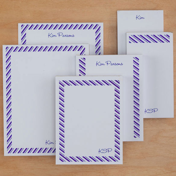 Personalized Diagonal Stripes Notepads Refill Set of 6 - View 3