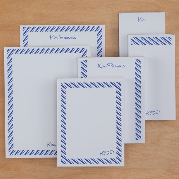 Personalized Diagonal Stripes Notepads Refill Set of 6 - View 4