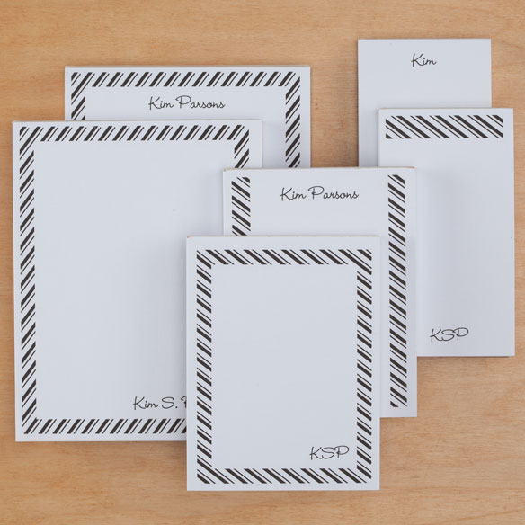 Personalized Diagonal Stripes Notepads Refill Set of 6 - View 5
