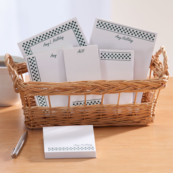 Personalized Polka Dots Basketful of Notepads - View 4