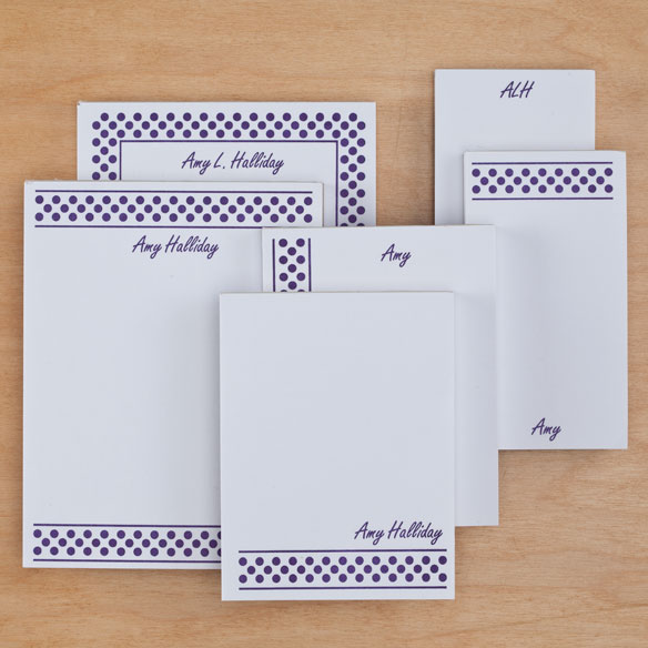 Personalized Polka Dots Basketful of Notepads Refill Set of 6 - View 3
