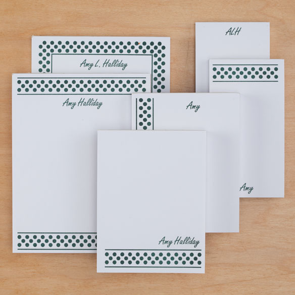 Personalized Polka Dots Basketful of Notepads Refill Set of 6 - View 4