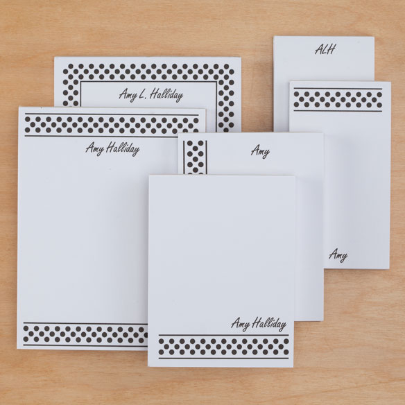 Personalized Polka Dots Basketful of Notepads Refill Set of 6 - View 5