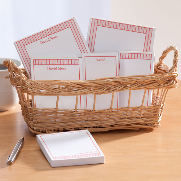Personalized Vertical Stripes Basketful of Notepads - View 2