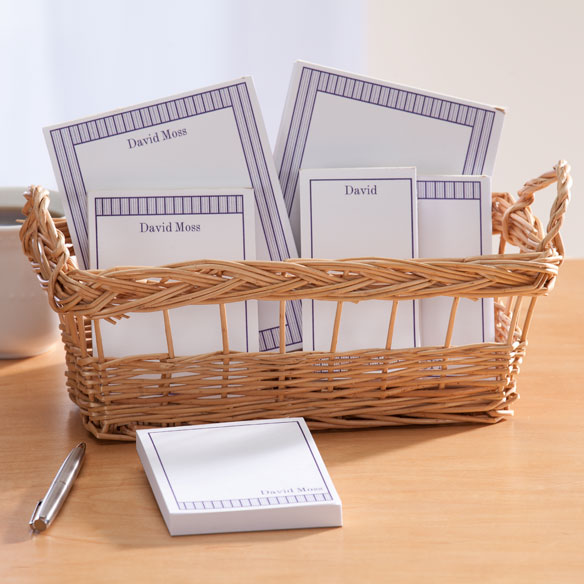 Personalized Vertical Stripes Basketful of Notepads - View 3