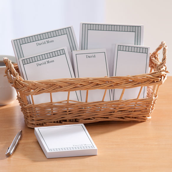 Personalized Vertical Stripes Basketful of Notepads - View 4
