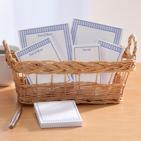 Personalized Vertical Stripes Basketful of Notepads - View 5