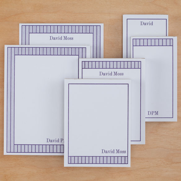 Personalized Vertical Stripes Notepads Refill Set of 6 - View 3