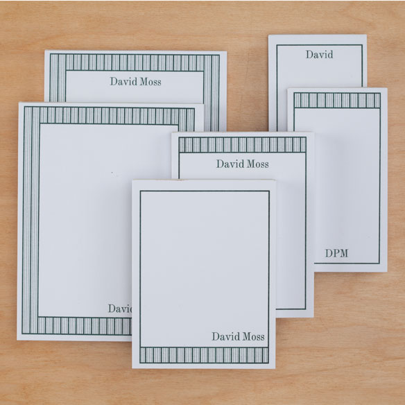 Personalized Vertical Stripes Notepads Refill Set of 6 - View 4