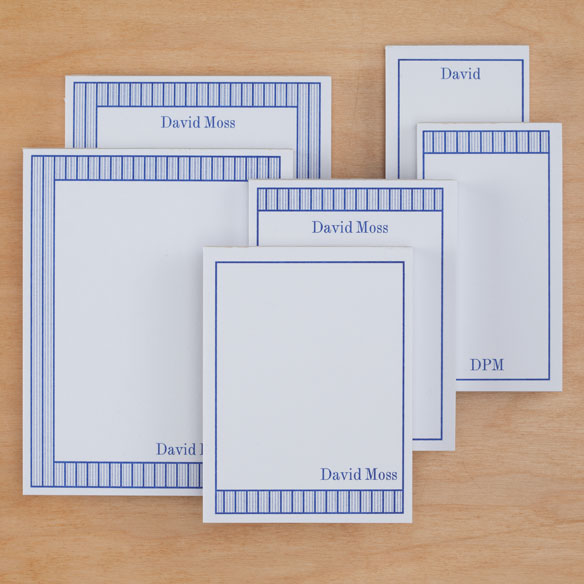 Personalized Vertical Stripes Notepads Refill Set of 6 - View 5