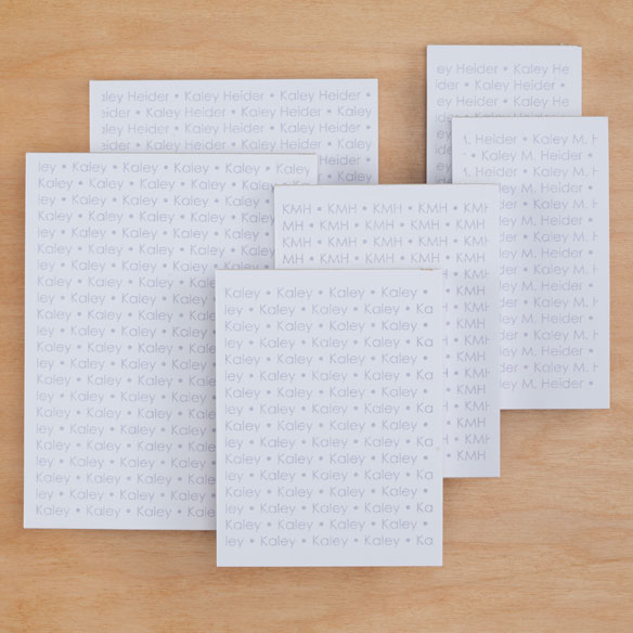 Personalized Repeating Name Notepads Refill Set of 6 - View 2