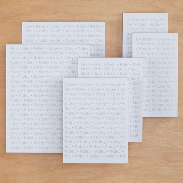 Personalized Repeating Name Notepads Refill Set of 6 - View 3