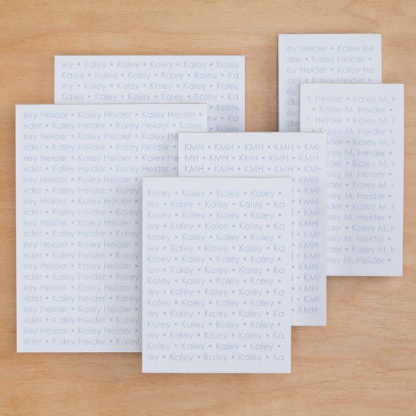 Personalized Repeating Name Notepads Refill Set of 6 - View 4