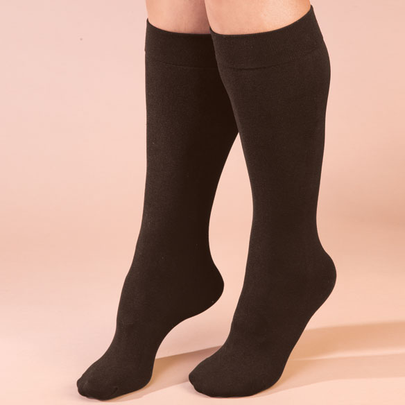 Fleece Lined Knee Highs - 2 Pairs - View 2