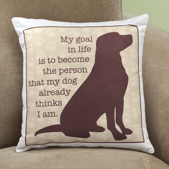 My Goal in Life Dog Pillow - View 2