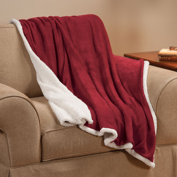 "Ultra Plush Microfiber Sherpa Throw - 50""x60"" by OakRidge Comforts™ - View 4"
