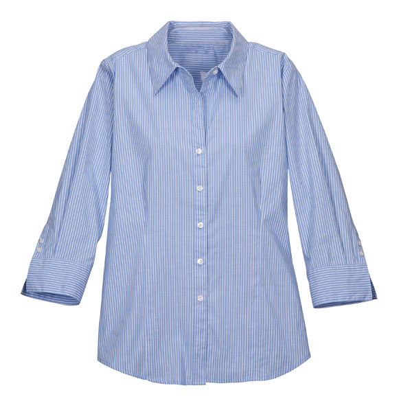 3/4 Length Striped Woven Shirts - View 2
