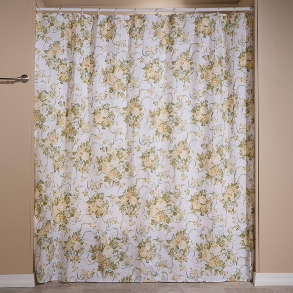 Ribbons and Roses Shower Curtain Set - View 3