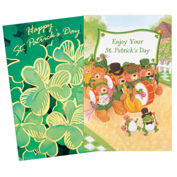 St. Patrick's Day Card Assortment, Set of 24 - View 2