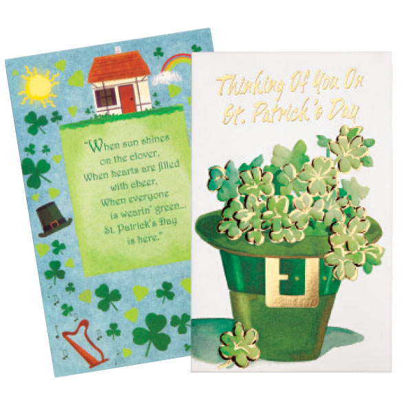 St. Patrick's Day Card Assortment, Set of 24 - View 4