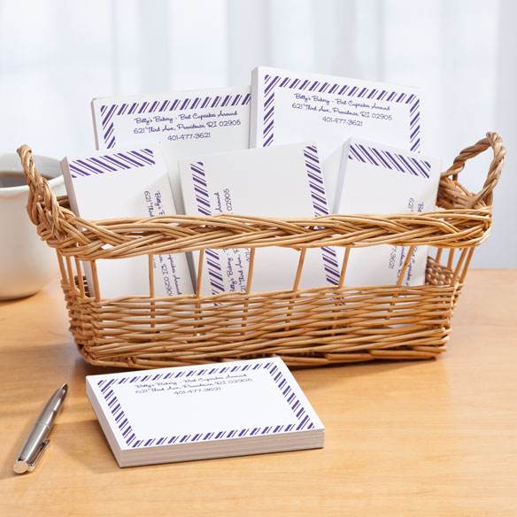 Personalized Diagonal Stripes Business Basketful of Notepads - View 3