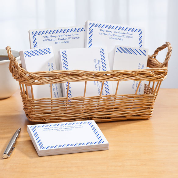Personalized Diagonal Stripes Business Basketful of Notepads - View 5