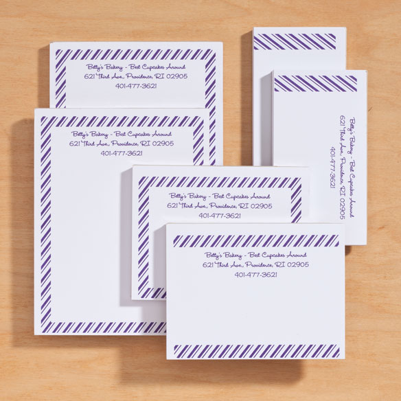 Personalized Diagonal Stripes Business Notepads Refill Set of 6 - View 3